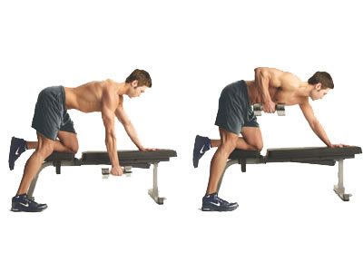 Single Arm Bend Over dumbbell row exercise