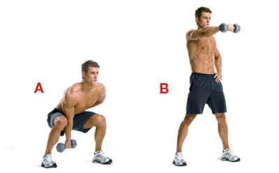 Single Arm Squat and swing exercise